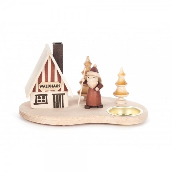 Dregeno Erzgebirge - Räucherhaus mit Weihnachtsmann und Teelicht