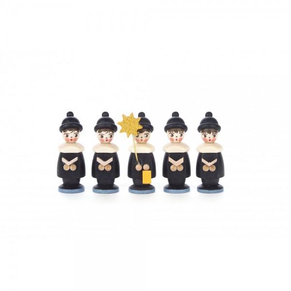 Dregeno Erzgebirge - Kurrendefiguren 5er-Gruppe, schwarz - 4cm