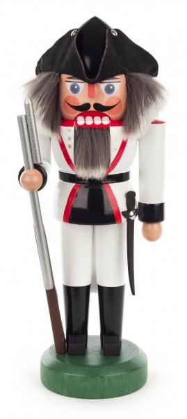 Dregeno Erzgebirge - Nussknacker Französischer Soldat 27cm weiß