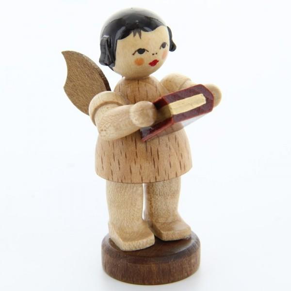 Uhlig Engel stehend mit Bibel, natur, handbemalt