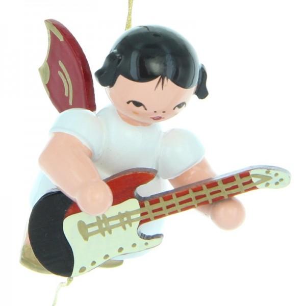 Uhlig Engel schwebend mit E-Gitarre, rote Flügel, handbemalt