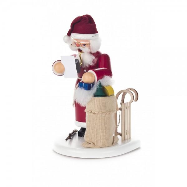 Dregeno Erzgebirge - Räuchermann Weihnachtsmann mit Geschenken - 20cm