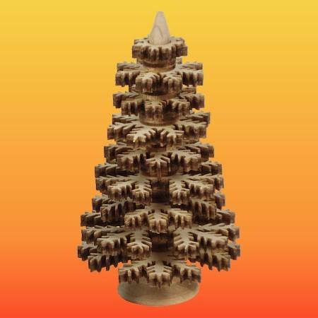 Lenk & Sohn Erzgebirgischer Schichtenbaum Nadelbaum Set 4-8cm natur