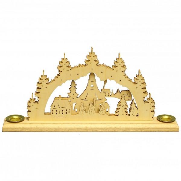 HELA Holzkunst - Kerzenhalter Schwibbogen Seiffner Kirche