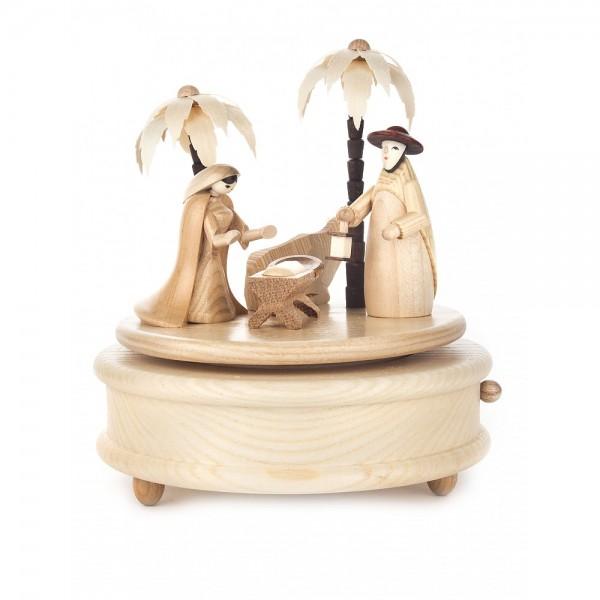Dregeno Erzgebirge - Spieldose Christi Geburt, 18-stimmiges Spielwerk