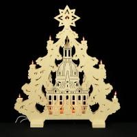 HELA Holzkunst - 2D Lichterspitze Erzgebirge - Frauenkirche