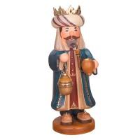 Hubrig Räuchermann Drei Heilige Könige Balthasar 35cm