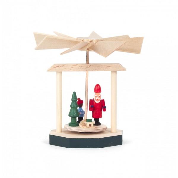 Dregeno Erzgebirge - Wärmespiel Miniatur Weihnachtsmann - 8cm