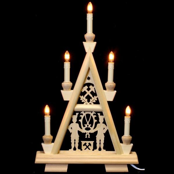 Holzkunst Niederle - Lichterspitze 2 Etagen - Schneeberger Motiv