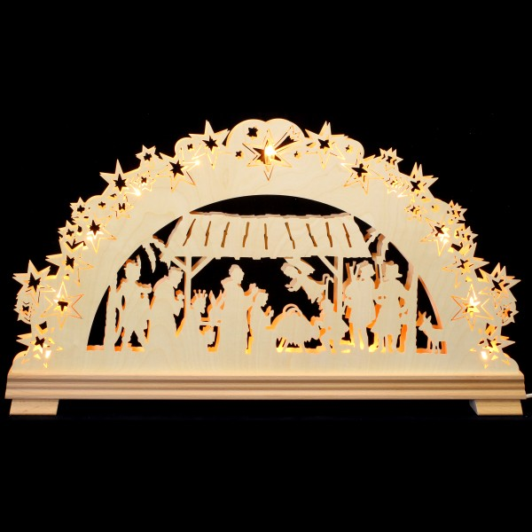Holzkunst Niederle - 3D Schwibbogen - Christlich