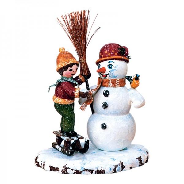 Hubrig Winterkinder Junge mit Schneemann