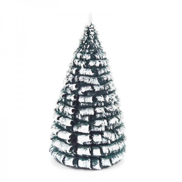 Dregeno Erzgebirge - Miniatur-Rauhreifbaum, grün/weiß, 10 cm, 3-teilig
