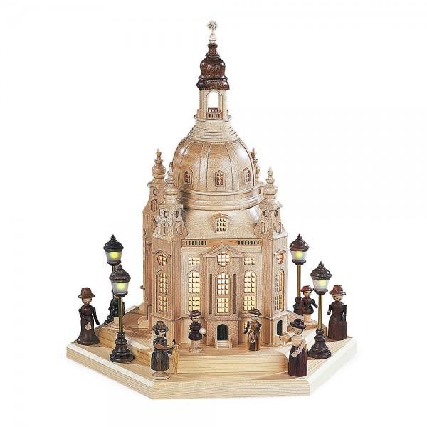 Müller Frauenkirche Dresden, groß mit Innenbeleuchtung