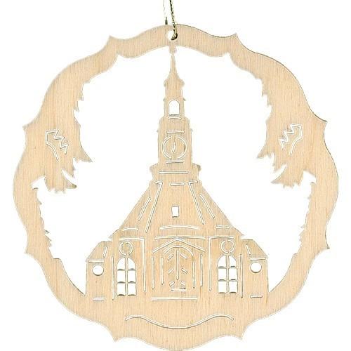 Lenk & Sohn Baumbehang Kreis Motiv Seiffener Kirche