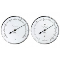 Fischer Wetter-Set - Thermometer und Haar-Hygrometer im Edelstahlgehäuse