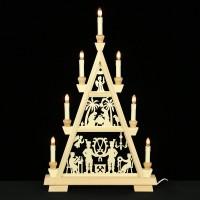 Holzkunst Niederle - Erzgebirgische Lichterspitze - Schneeberger Motiv - 3 Etagen