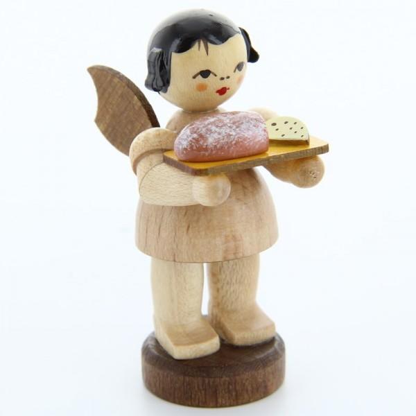 Uhlig Engel stehend mit Stollenbrett, natur, handbemalt
