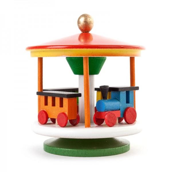 Dregeno Erzgebirge - Miniatur-Karussell mit Eisenbahn, farbig