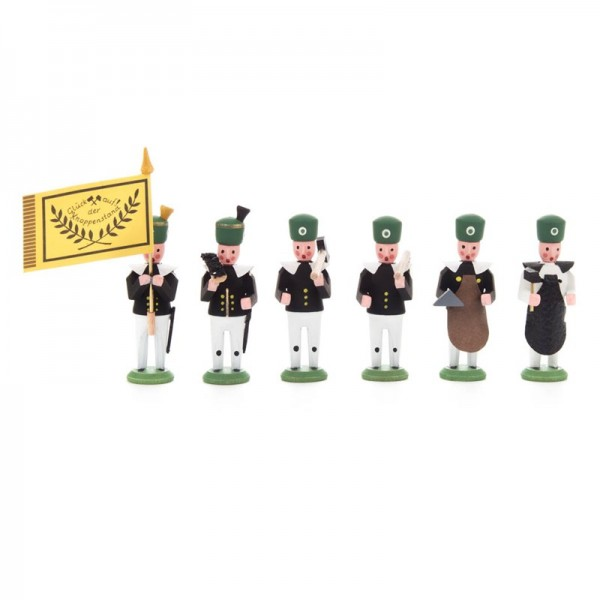 Dregeno Erzgebirge - Miniatur-Bergbauaufzug: Hauptleute, 6 Figuren