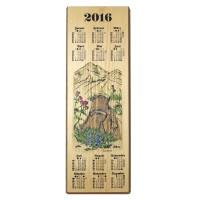 Holzkalender 2016 - Jagdmotiv Murmeltiere