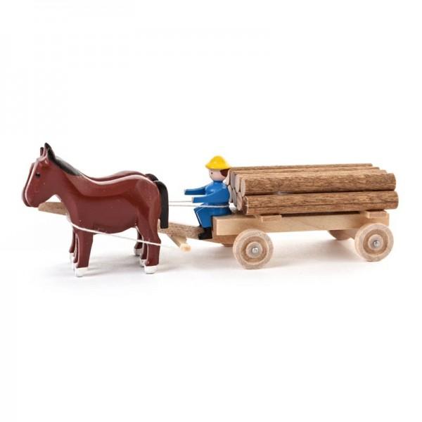 Dregeno Erzgebirge - Miniatur-Pferde mit Klötzerwagen