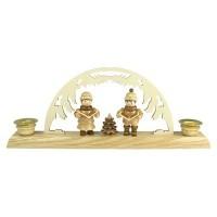 Lenk & Sohn Kerzenständer Erzgebirge 2-flammig Sternsänger