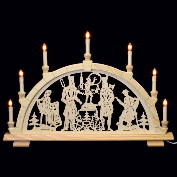 Holzkunst Niederle - Schwibbogen 7-flammig (64cm) - Freiberger Motiv