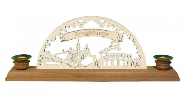 Lenk & Sohn Kerzenständer Erzgebirge 2-flammig Eisenbahn