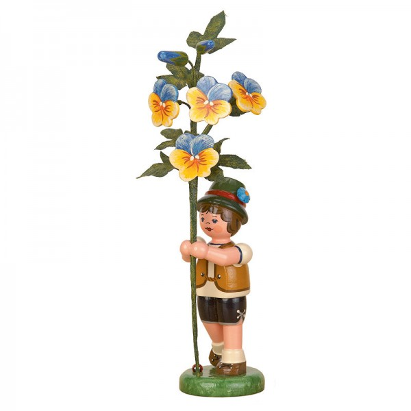 Hubrig Blumenkinder 17cm Junge mit Hornveilchen