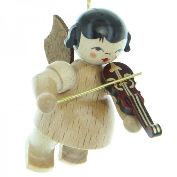 Uhlig Engel schwebend mit Violine , natur, handbemalt