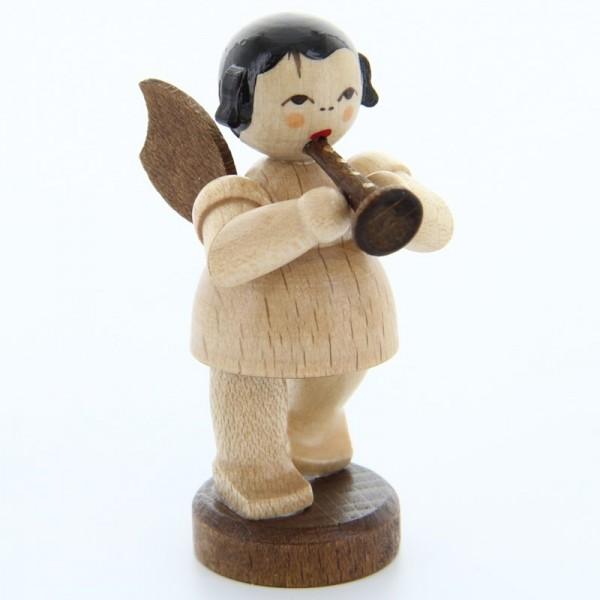 Uhlig Engel stehend mit Flöte, natur, handbemalt