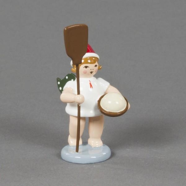 Dregeno Erzgebirge - Weihnachtsengel mit Ofenschieber und Mütze