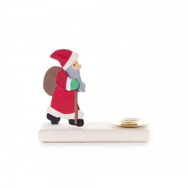 Dregeno Erzgebirge - Kerzenhalter mit Weihnachtsmann - 7cm