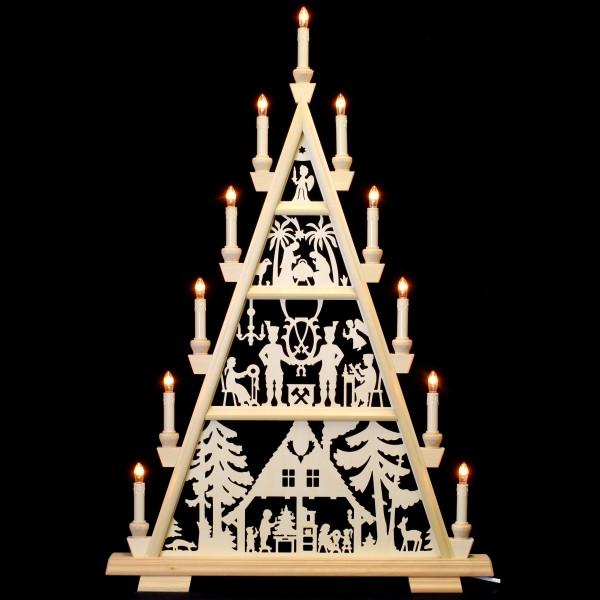 Holzkunst Niederle - Lichterspitze 4 Etagen - Waldhaus