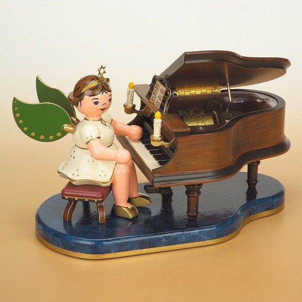 Hubrig Engel am Klavier mit Spielwerk