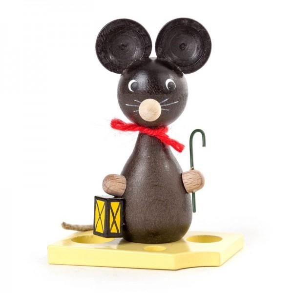 Dregeno Erzgebirge - Miniatur-Maus mit Laterne