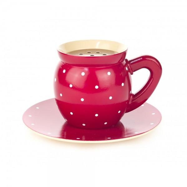 Dregeno Erzgebirge - Dampfende Kaffeetasse, rot