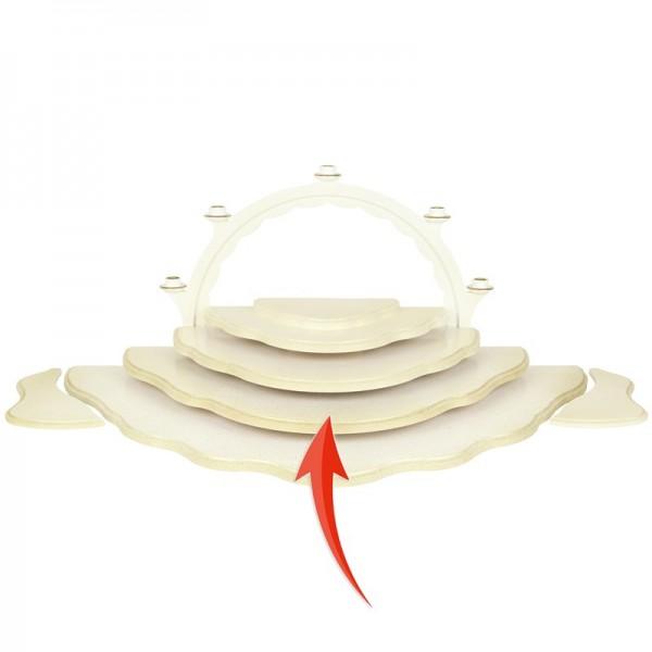Uhlig Engel, Unterbauetage 4 für Wolkenstecksystem weiß/gold