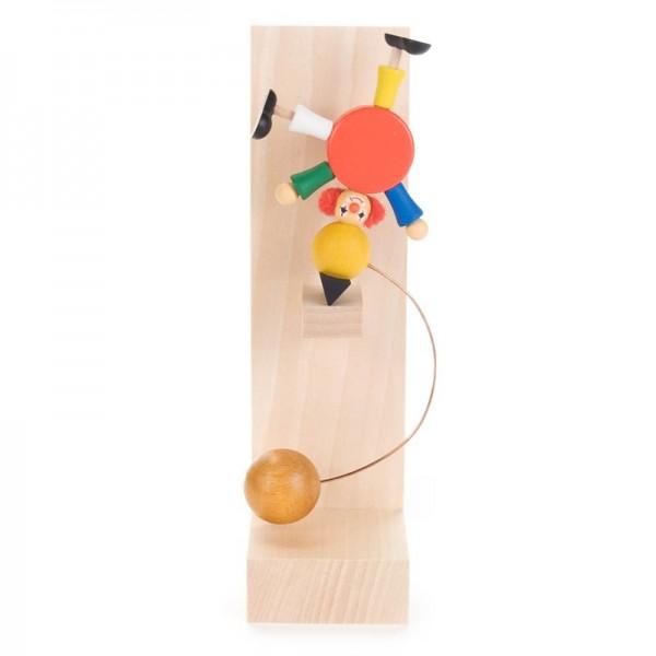 Dregeno Erzgebirge - Schaukel-Clown Akrobat auf Ball, ohne Dekoständer