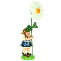 Hubrig Blumenmädchen 11cm Blumenkind mit Margeritte