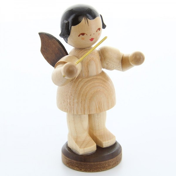 Uhlig Engel groß stehend Dirigent, natur, handbemalt