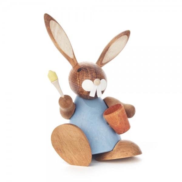 Dregeno Erzgebirge - Hase blau mit Eimer und Pinsel
