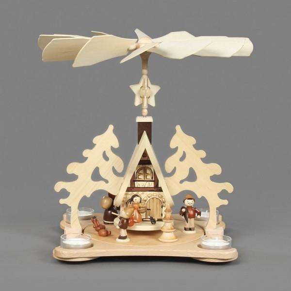 Dregeno Erzgebirge - Pyramide Waldhaus, für Teelichter