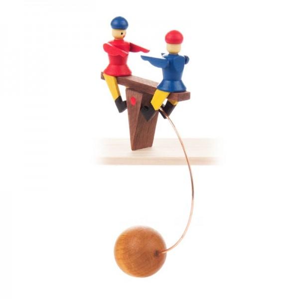 Dregeno Erzgebirge - Miniatur-Schaukelfigur Kinderwippe