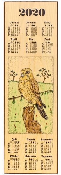 Restposten - Holzkalender 2020 - Jagdmotiv Falke