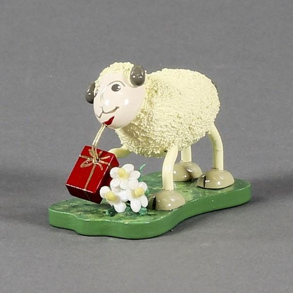 Dregeno Erzgebirge - Schaf Gratulanti bringt Geschenke