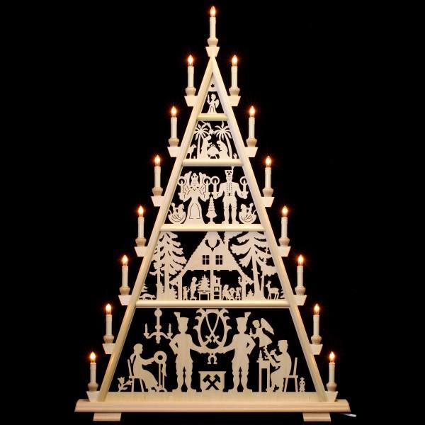 Holzkunst Niederle - Lichterspitze 5 Etagen - Schneeberger Motiv
