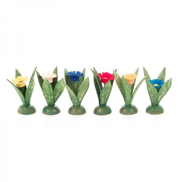 Dregeno Erzgebirge - Miniatur-Blumenstöckchen, 6-teilig