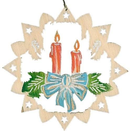 Lenk & Sohn Baumbehang handbemalt Motiv Adventskerzen