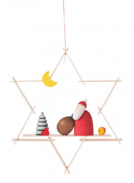 Dregeno Erzgebirge - Behang Weihnachtsmann